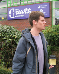 St Piers College student visiting The Hawth Theatre
